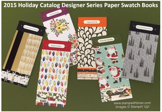 Designer Series Paper Swatch Books, Stampin' Up!, Brian King