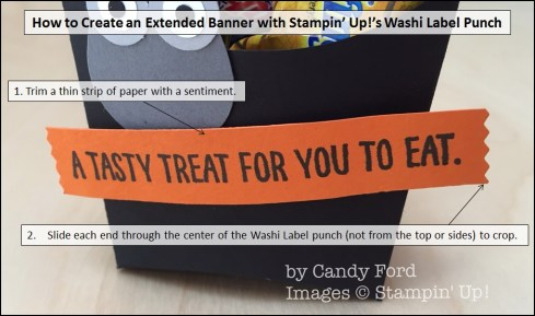 How to Create an Extended Banner with Stampin' Up!'s Washi Label punch, Candy Ford