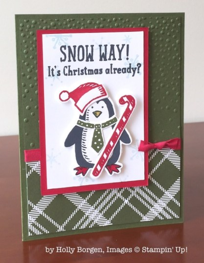 Snow Place, Stampin' Up!, by Holly Borgen