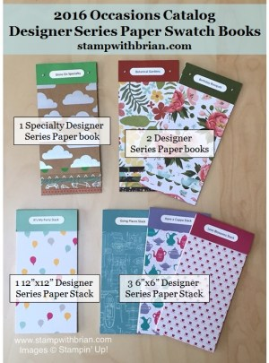 2016 Occasions Catalog Swatch Books with Labels