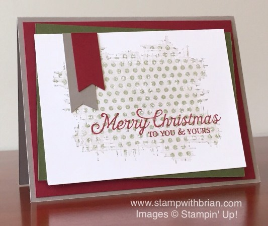 Six Sayings, You've Got This, Stampin' Up!, Brian King, Christmas card, kissing technique