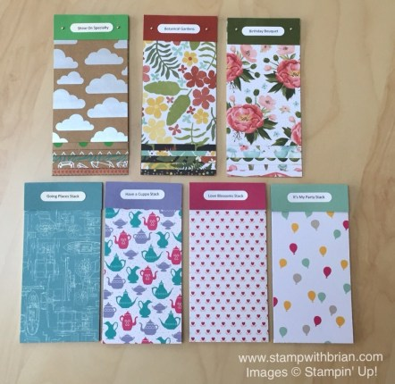 2016 Occasions Catalog Swatch Books with Labels, Stampin' Up!, Brian King