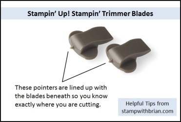 Tips for using Stampin' Trimmer Blades, Stampin' Up!