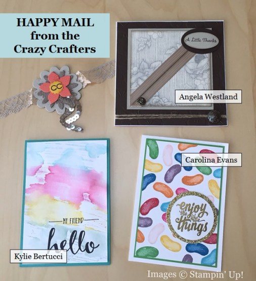Happy Mail from the Crazy Crafters, Stampin' Up!