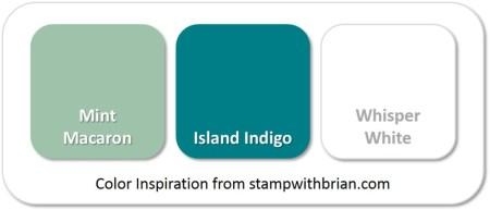 Stampin' Up! Color Inspiration: Mint Macaron, Island Indigo, Whisper White