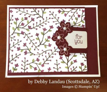 Debby Landau, Scottsdale AZ, Stampin' Up!, card swap