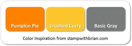 Stampin' Up! Color Inspiration: Pumpkin Pie, Crushed Curry, Basic Gray