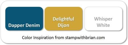 Stampin' Up! Color Inspiration: Dapper Denim, Delightful Dijon, Whisper White