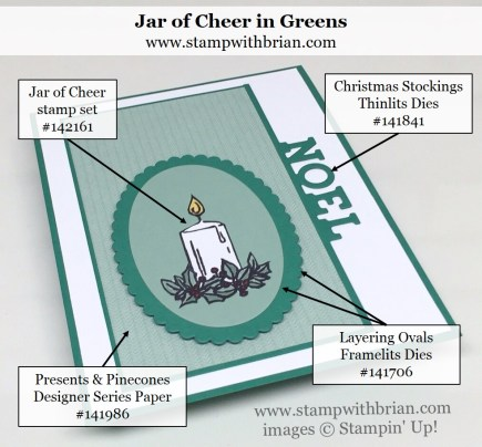 Jar of Cheer, Christmas Stockings Thinlints, Stampin' Up!, Brian King, PP307