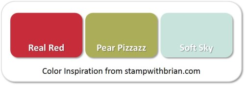 Stampin' Up! Color Inspiration: Real Red, Pear Pizzazz, Soft Sky