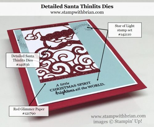 Detailed Santa Thinlits Dies, Star of Light, Stampin' Up!, Brian King
