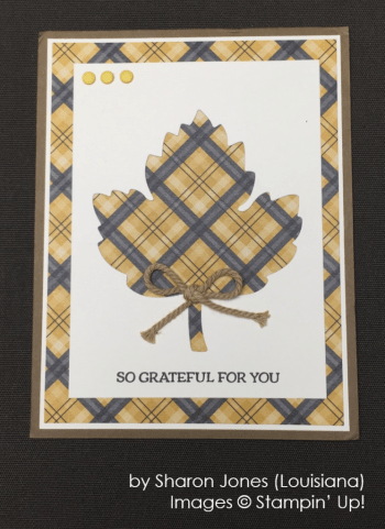 by Sharon Jones, Stampin' Up!, Holiday One-for-One Swap