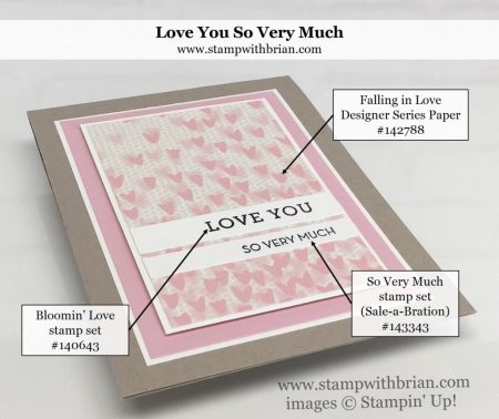 Bloomin' Love, So Very Much, Falling in Love Designer Series Paper, Stampin' Up!, Brian King