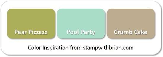 Stampin' Up! Color Inspiration: Pear Pizzazz, Pool Party, Crumb Cake