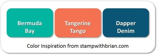 Stampin' Up! Color Inspiration: Bermuda Bay, Tangerine Tango, Dapper Denim
