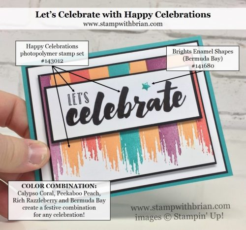Happy Celebrations, Stampin' Up!, Brian King, celebration card, FabFri106