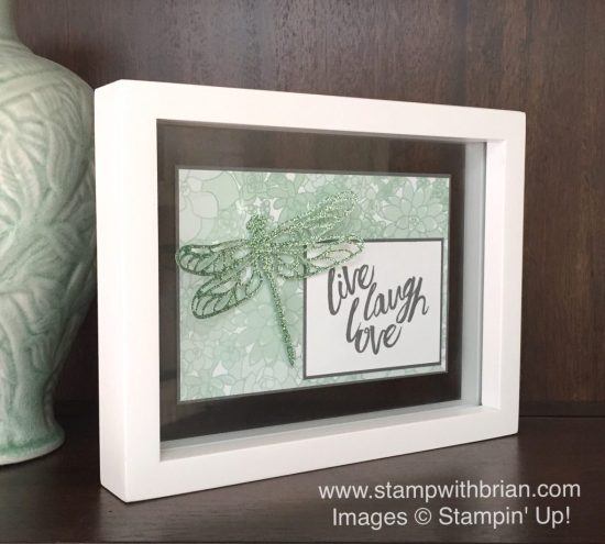Layering Love, Detailed Dragonfly Thinlits Dies, Succulent Garden Designer Series Paper, 6 x 6 Glimmer Paper, Stampin' Up!, Brian King, GDP075, DIY home decor