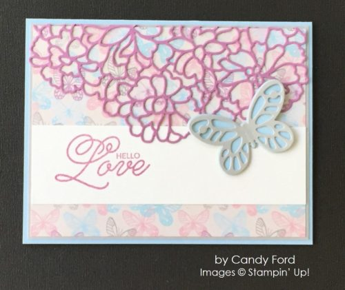 by Candy Ford, Stampin' Up! swap, love card