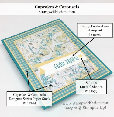 Happy Celebrations, Cupcakes & Carousels Designer Series Paper Stack, Stampin' Up!, Brian King, GDP079