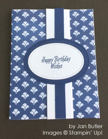 by Jan Butler, Stampin' Up! swap card
