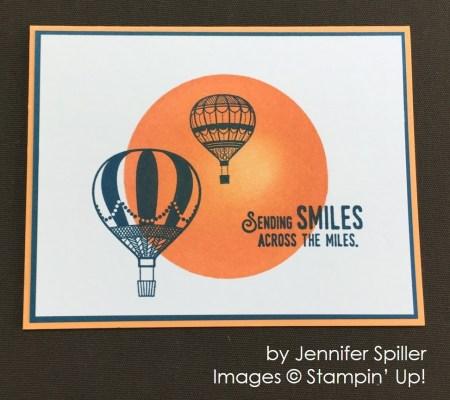 by Jennifer Spiller, Stampin' Up! swap card