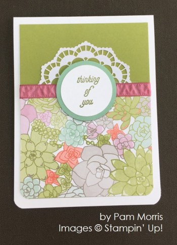 by Pam Morris, Stampin' Up! swap card