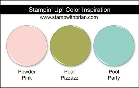 Stampin' Up! Color Inspiration: Powder Pink, Pear Pizzazz, Pool Party