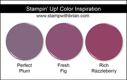 Fresh Fig Comparison, Stampin' Up!, Brian King