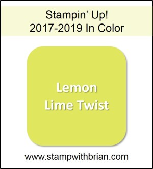 Lemon Lime Twist, Stampin' Up! 2017-2019 In Color, www.stampwithbrian.com