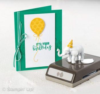 Balloon Adventures, Balloon Pop-Up Thinlits Dies, Stampin' Up!, birthday card