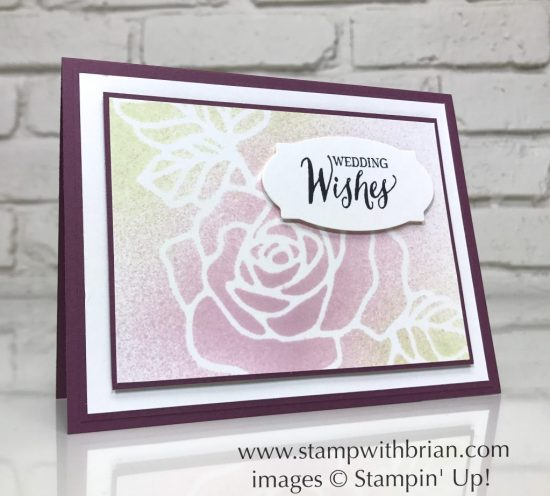 Rose Wonder, Stampin' Up!, Brian King, wedding card