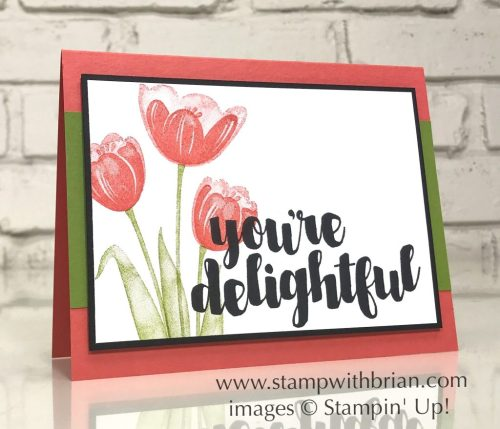 Tranquil Tulips, You're Delightful, Stampin' Up!, Brian King, GDP089