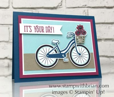 Bike Ride, Happy Birthday Gorgeous, Stampin' Up!, Brian King, GDP092