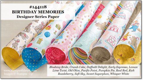 Birthday Memories Designer Series Paper, Stampin' Up!