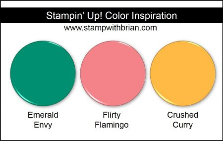 Stampin' Up! Color Inspiration: Emerald Envy, Flirty Flamingo, Crushed Curry