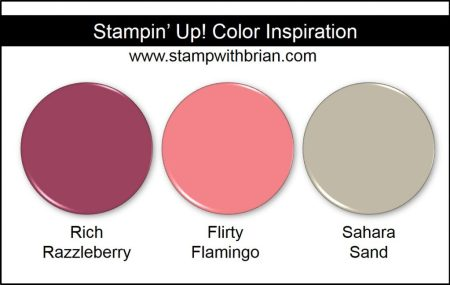Stampin' Up! Color Inspiration: Rich Razzleberry, Flirty Flamingo, Sahara Sand