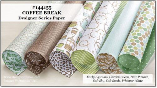 Coffee Break Designer Series Paper, Stampin' Up!