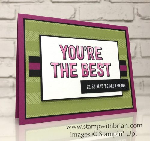 You're Delightful, Stampin' Up!, Brian King, FabFri115