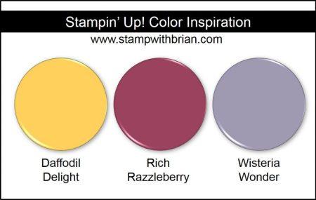 Stampin' Up! Color Inspiration: Daffodil Delight, Rich Razzleberry, Wisteria Wonder
