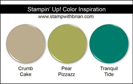 Stampin' Up! Color Inspiration: Crumb Cake, Pear Pizzazz, Tranquil Tide