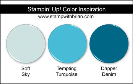 Stampin' Up! Color Inspiration: Soft Sky, Tempting Turquoise, Dapper Denim