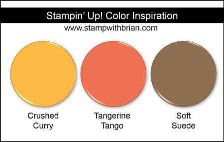 Stampin' Up! Color Inspiration: Crushed Curry, Tangerine Tango, Soft Suede