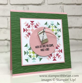 Christmas Quilt, Quilt Builder Framelits Dies, Quilted Christmas Designer Series Paper Stack, Stampin' Up!, 2017 Holiday Catalog