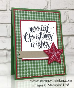 Watercolor Christmas, Stampin' Up!, Brian King, simple Christmas Card