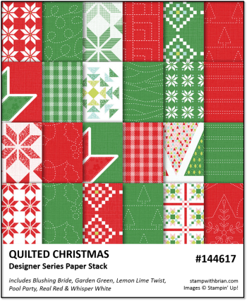 Quilted Christmas, Stampin' Up!, Brian King 144617