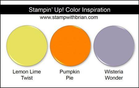 Stampin' Up! Color Inspiration: Lemon Lime Twist, Pumpkin Pie, Wisteria Wonder