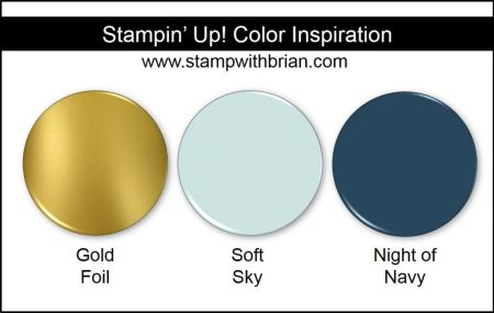 Stampin' Up! Color Inspiration: Gold Foil, Soft Sky, Night of Navy