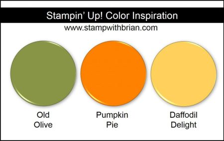 Stampin' Up! Color Inspiration: Old Olive, Pumpkin Pie, Daffodil Delight
