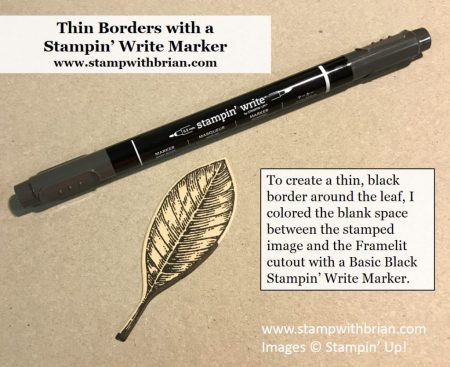Use a marker to create a border around a cropped image, Vintage Leaves, Stampin' Up!, Brian King, GDP110