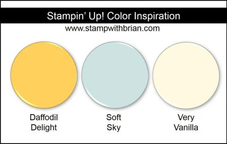 Stampin' Up! Color Inspiration: Daffodil Delight, Soft Sky, Very Vanilla